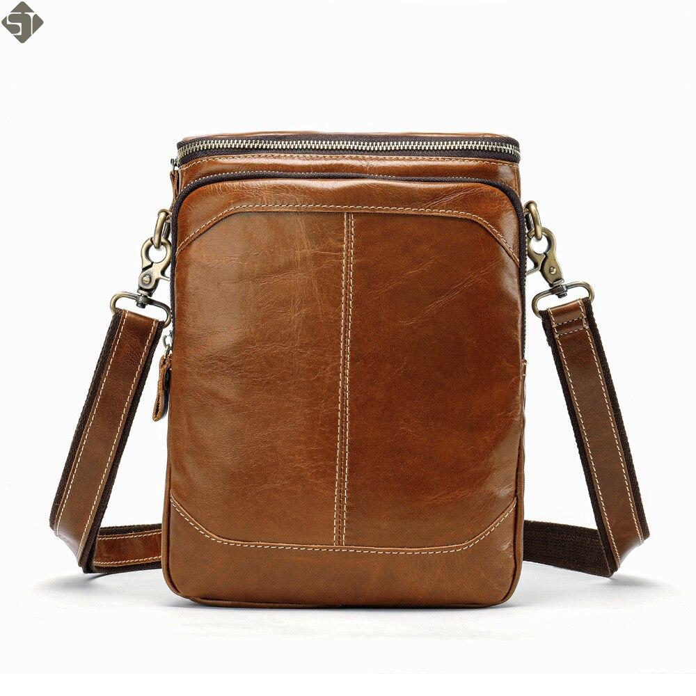 Gut Vintage Männer Schulter Taschen Zipper Messenger Tasche Männer Echte Leder Tasche Männlichen Ipad Umhängetaschen Für Männer Handtaschen Eine Lange Historische Stellung Haben