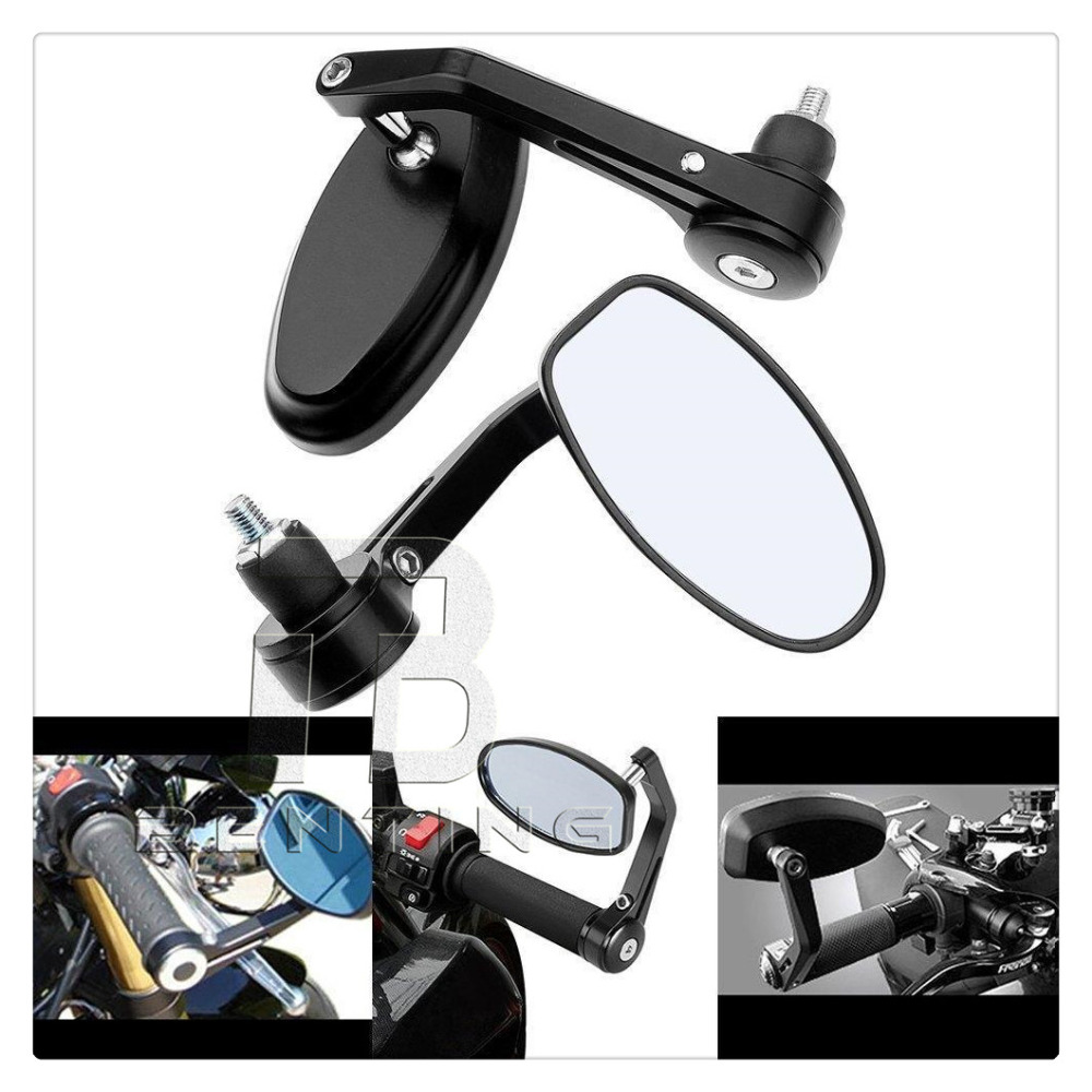 Motorcycle Mirror Aluminum Rear view Mirror End Motor Mirror Motorcycle Accessories Cafe Racer For Suzuki Bandit & Kawasaki z750