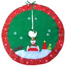 3D Christmas Tree Skirt High-grade Snowman Merry Cotton Xmas Decoration Dia 90cm natale new