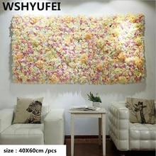 Discount 10 1pcs 60x40cm Artificial Silk Rose Flower Wall