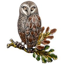 YACQ Owl Bird Leaf Pin Brooch Crystal Enamel Jewelry Cute Fashion Women Birthday Party Gifts Mom Teen Girls Dropshipping NB23