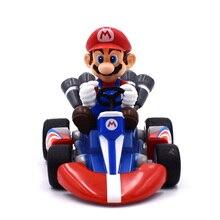 Super Mario Bros Kart Pull Back Car Figures 13cm Japan Anime Mario PVC Figma Kids Good Gifts For Boys Free Shipping цена 2017