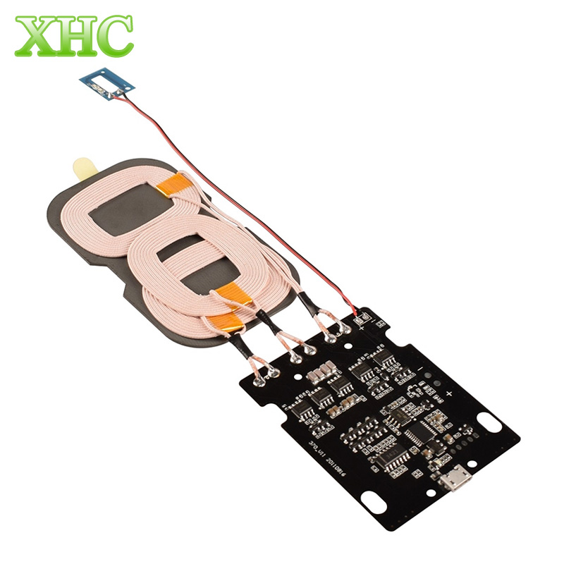 10W Fast Qi Standard Charging Universal DIY 3-Coils PCBA Wireless Charging Board Charger Transmitter for Samsung Galaxy S7 Edge