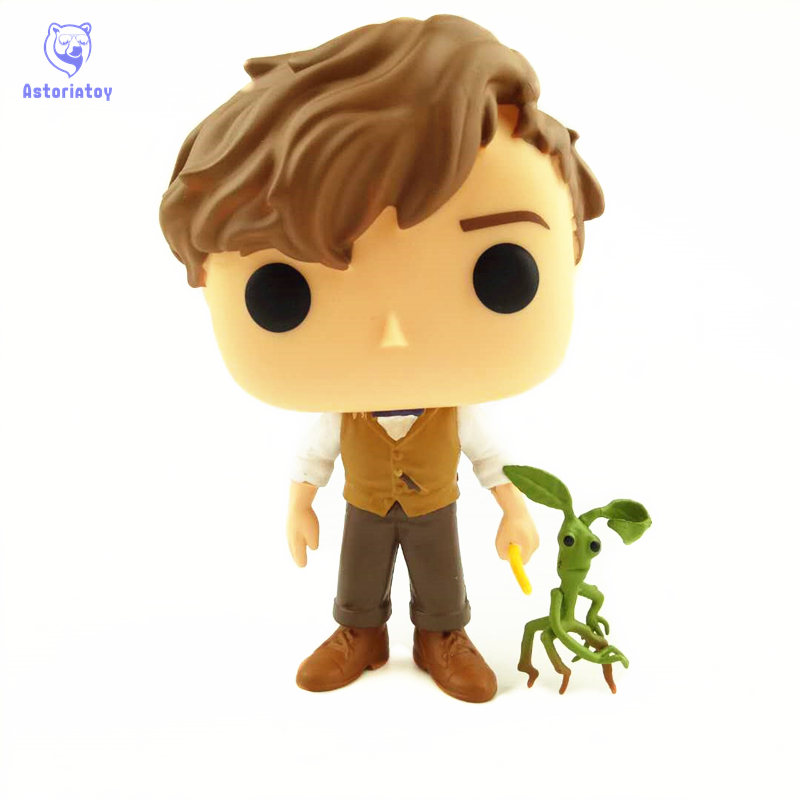NEW 10cm Fantastic Beasts Newt scamander pickett action figure Bobble Head Q Edition no box for Car Decoration new 10cm naruto shippuden sasuke kurama action figure bobble head q edition new box for car decoration