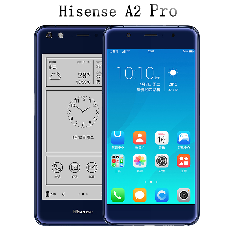 Hisense A2 Pro double screen mobile phone LTE FDD 5.5Color 4G RAM 64G ROM Double-sided 2.5D curved fingerprint 5.2 ink screen