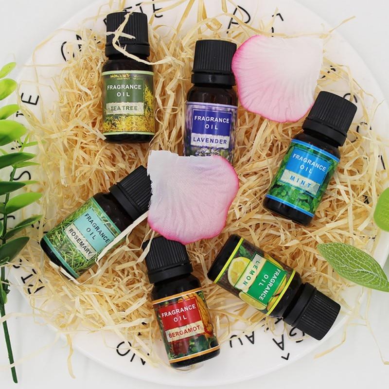 Lavender / Tea Tree / Lemon / Rosemary / Mint / Bergamot 10ml Nature Essential Oil Facial Cleanser Anti-Wrinkle Grease