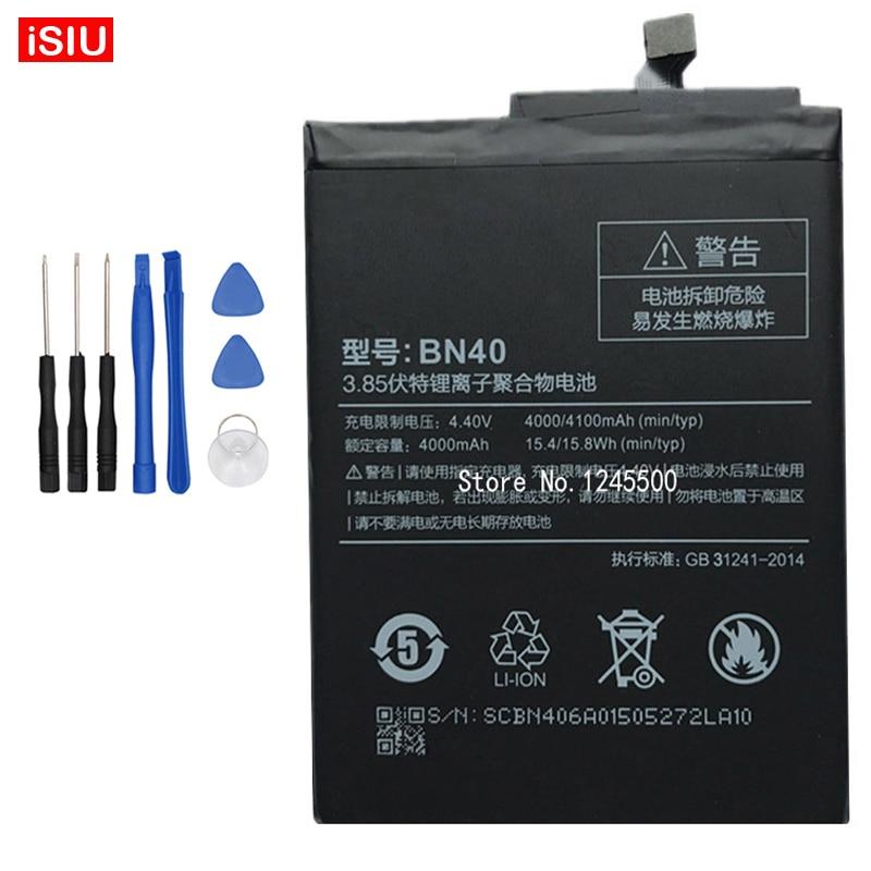 Hongmi 4 Pro / Redmi 4 Pro / RedRice 4 Pro BN40 4100mAh Battery For Xiaomi Hongmi 4Pro / Red Rice 4Pro / Redmi 4Pro / + Tools