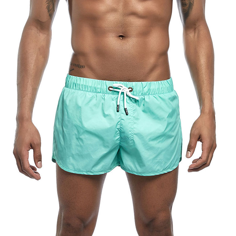 Mens Split Side Beach   Board     Shorts   with Back Pocket Swimwear Men Swim Trunks Gym Quick Dry Workout Training Running   Shorts