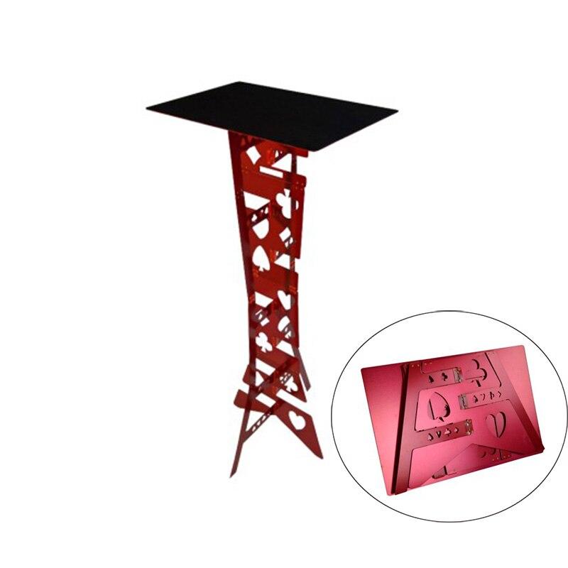 Alluminum aleación mágica mesa plegable Color Rojo magia trucos mago mejor mesa etapa ilusión Accesorios fácil de llevar-in Trucos de magia from Juguetes y pasatiempos    1