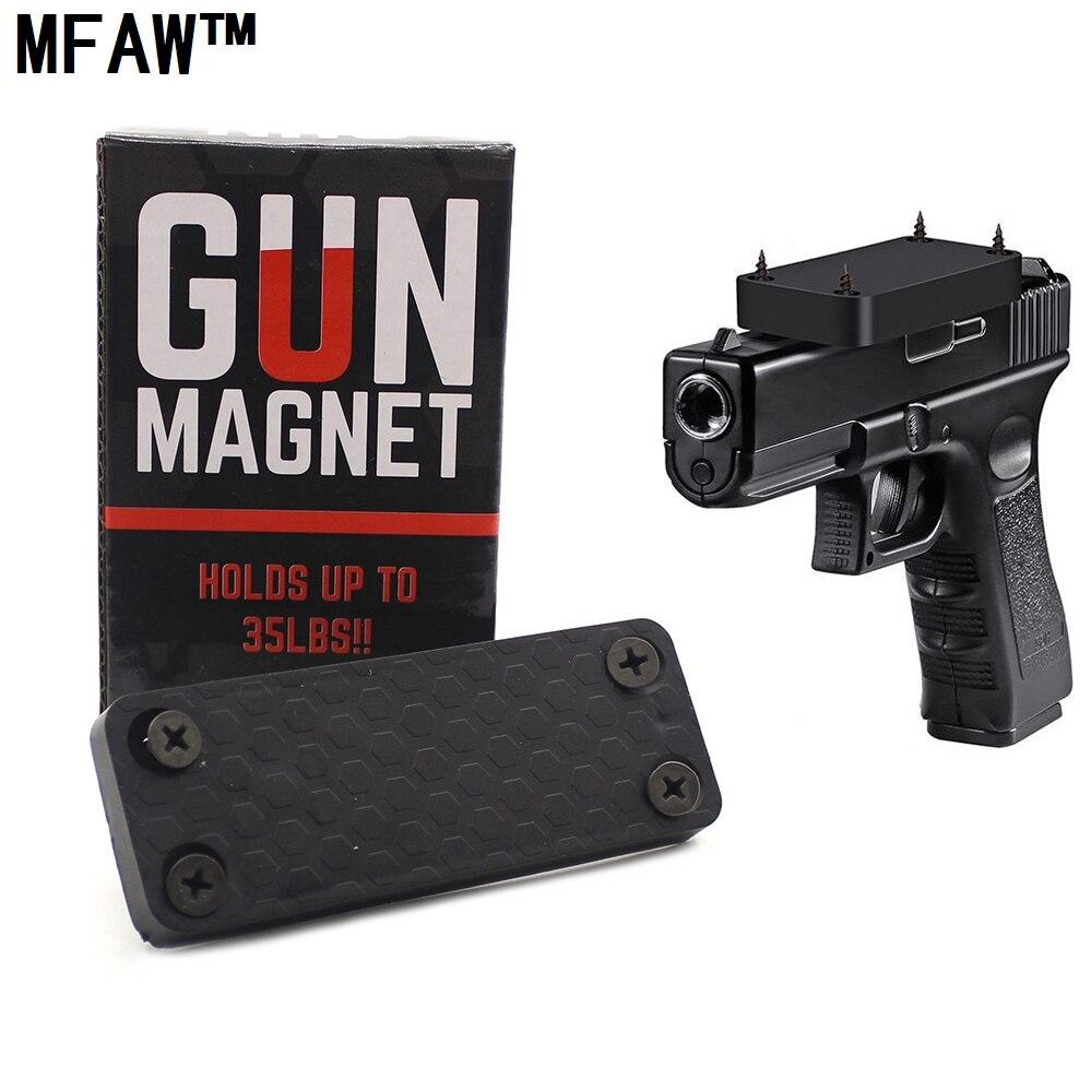 1 PCS 35LBS Magnétique Caché Titulaire Pistolet pistolet Holster Sous Le Bureau Table Porte Lit le Fusil Magnétique aimant Chasse Accessories-CT35