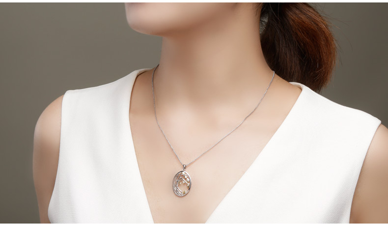 HTB1WOdoKA9WBuNjSspeq6yz5VXaJ SA SILVERAGE 925 Sterling Silver Tree of Life Pendant Necklaces for Women Gold Color Silver Long Maxi Chain Necklace Chokers