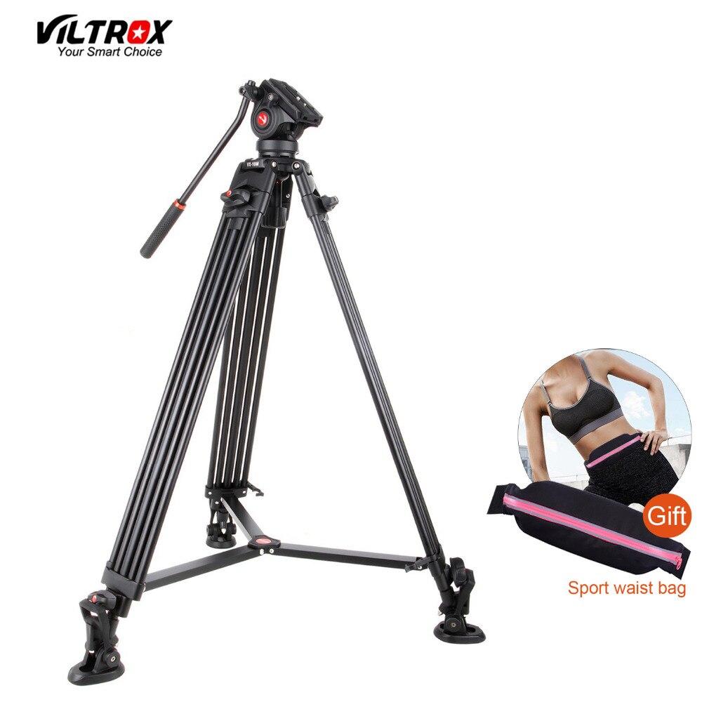 1.8 m Viltrox VX-18M Pro Heay Duty Aluminium Vidéo Trépied + Fluide Pan Head + Sac De Transport pour Caméra DV DSLR Très Stable