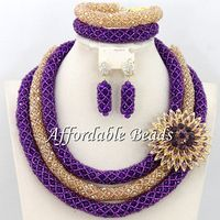 Best Sale African Beads Jewelry Set Charming Nigerian Bridal Jewelry Set New Arrival Large Stocks BN208