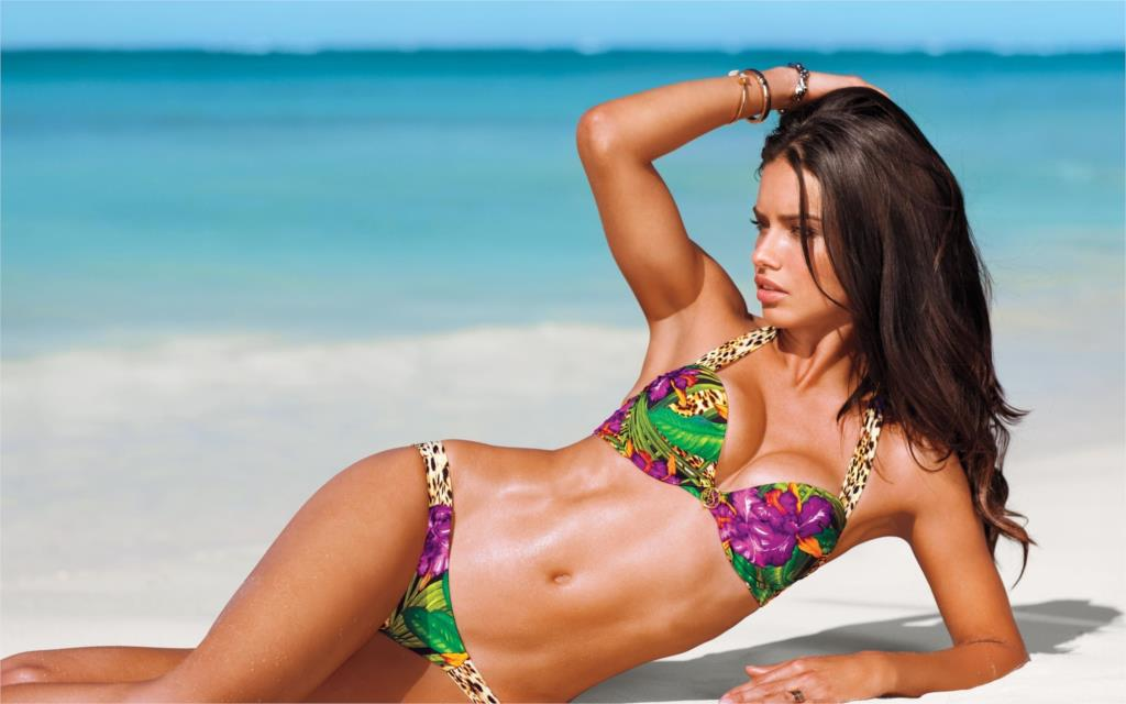 Beautiful sexy Adriana Lima Brazilian supermodel beach Home Decoration Canvas Poster