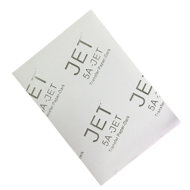 323a2c52af1a0 100pcs High quality A4 5AJE Black T-shirts transfer paper Dark inkjet heat  transfer paper Dark heat press paper-A4(one hundred o