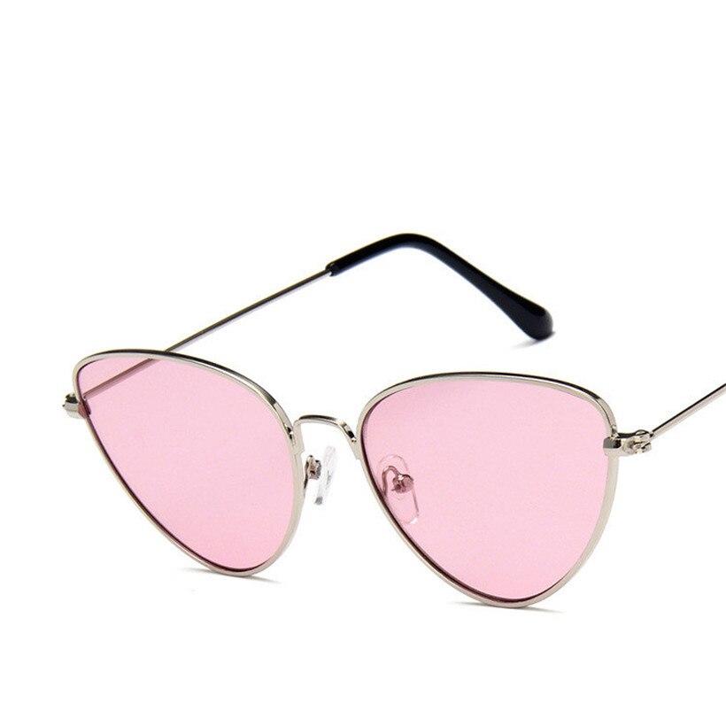 ea8a1670063 Retro Cat Eye Sunglasses Women Luxury Brand Designer Yellow Red Lens Sun  glasses Fashion Light Weight Vintage Metal Eyewear | Merchandise Inn