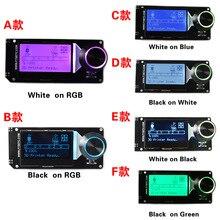 MKS MINI12864 ЖК-экран mini 12864 смарт-дисплей белый на черном RGB поддерживает Марлин с sd-картой для малого 3d принтера DIY части