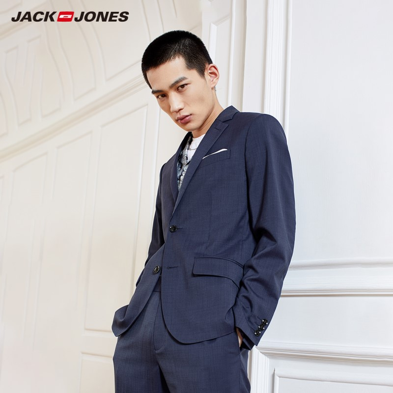 JackJones Men's Slim Fit Two-button Woolen Blazer Suit Jacket Style Menswear 219172508