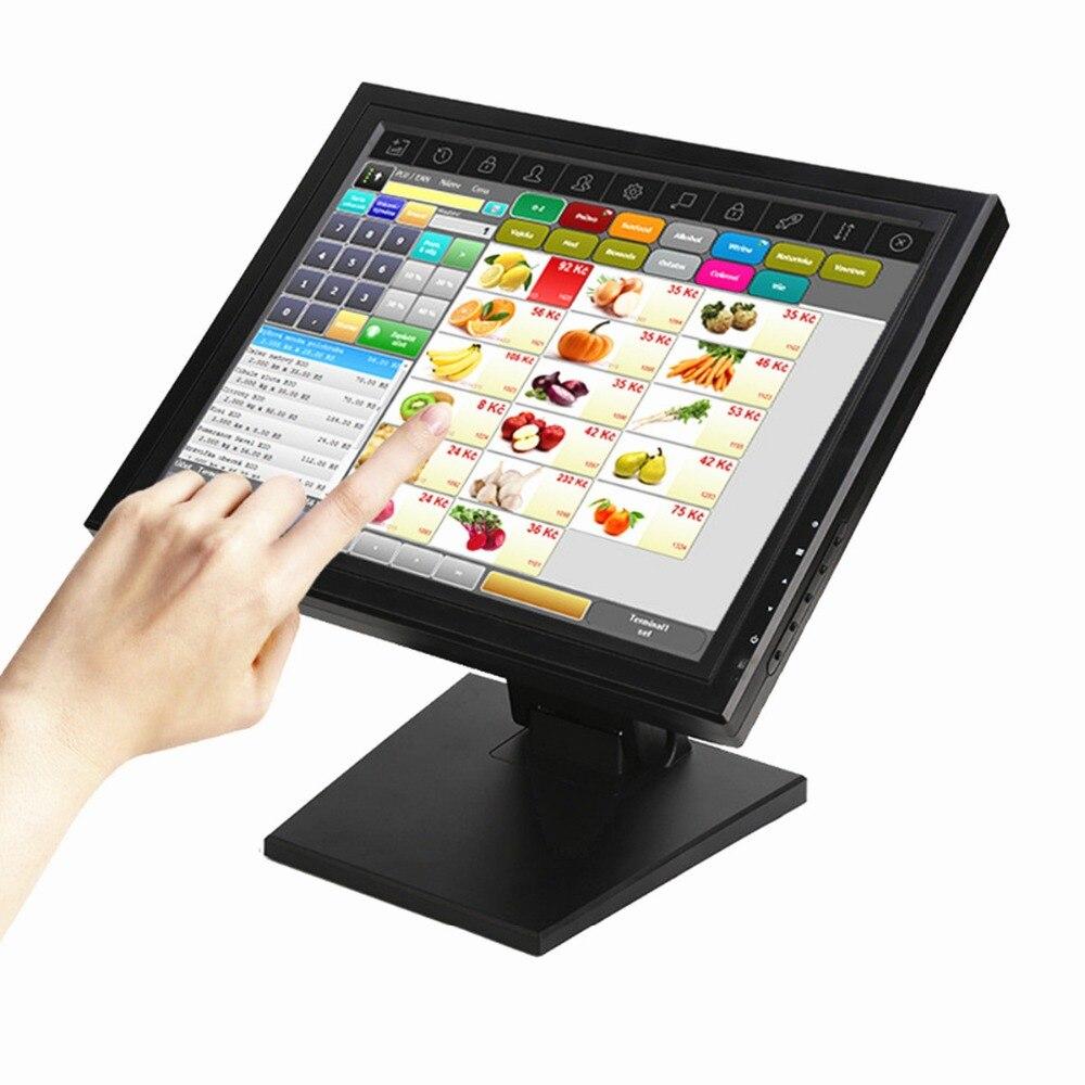 Wearson POS Moniteur Affichage 15 pouce Écran Tactile LCD Moniteur Écran D'ordinateur Avec Peuplement Dense