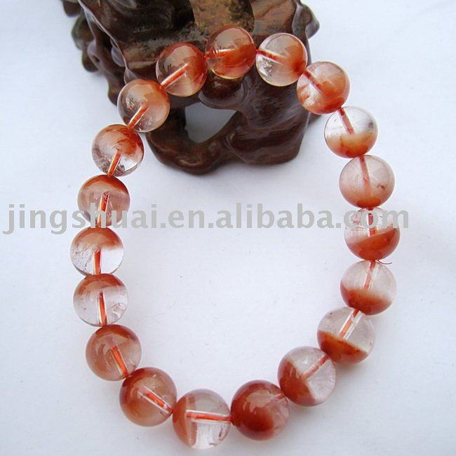 Natural red rabbit hair crystal mesh bracelet\Crystal fully moist happiness cobolli gigli longevity