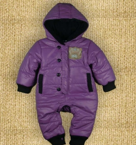 Purple Baby Girls Rompers Down Jackets Baby Hooded coat outfits Retail Baby clothes baby boy clothes 0 12month baby girls