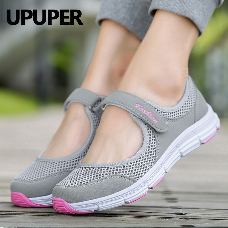 Summer Shoes Women Sneakers Healthy Walking Shoes For Mother Outdoor Ultralight Breathable Mesh Sport Running Shoes Women 35-42