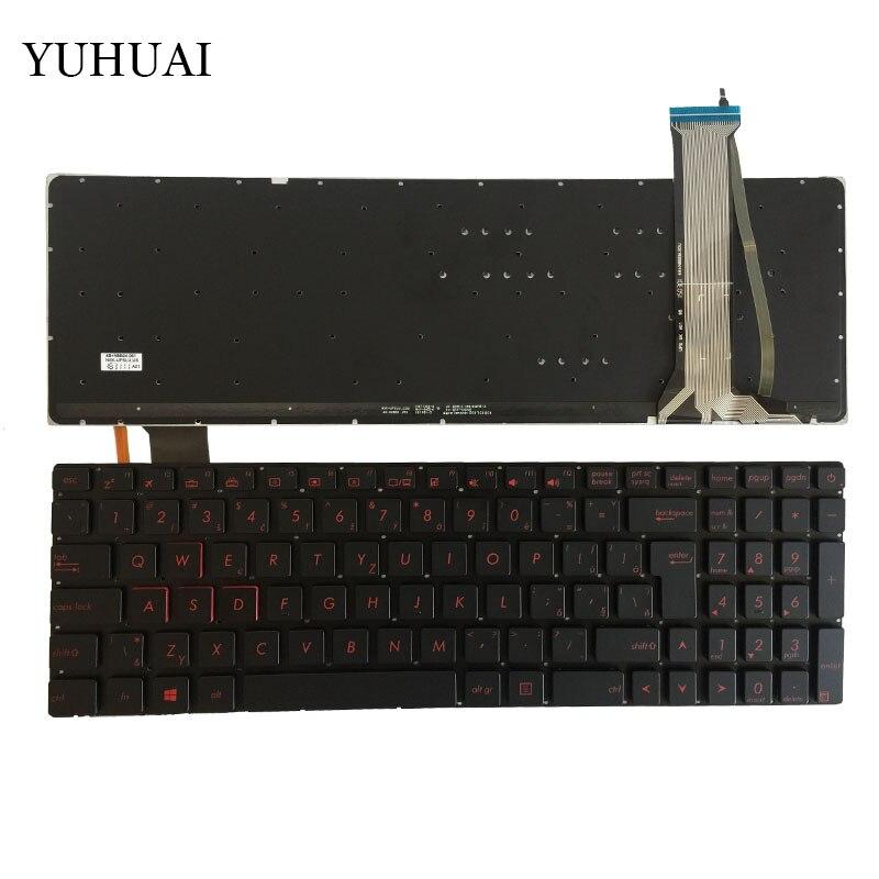 Czech For ASUS GL552 GL552J GL552JX GL552V GL552VL GL552VW N751 N751J N751JK N751JX G551VW backlit CZ laptop keyboard