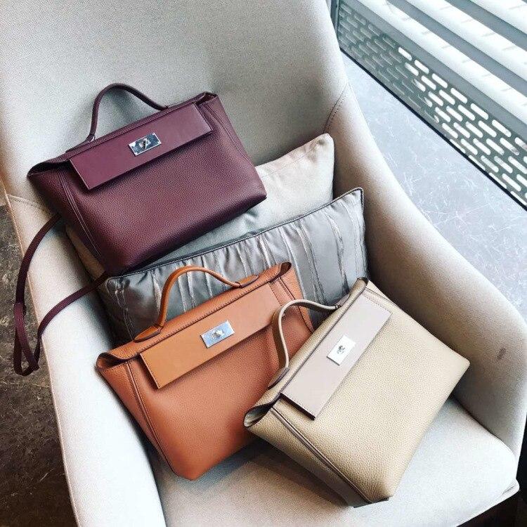 Luxury Designer Handbags 2019 Women Genuine Leather Famous Brand Handbags High Quality Tote Shoulder Bag (2)