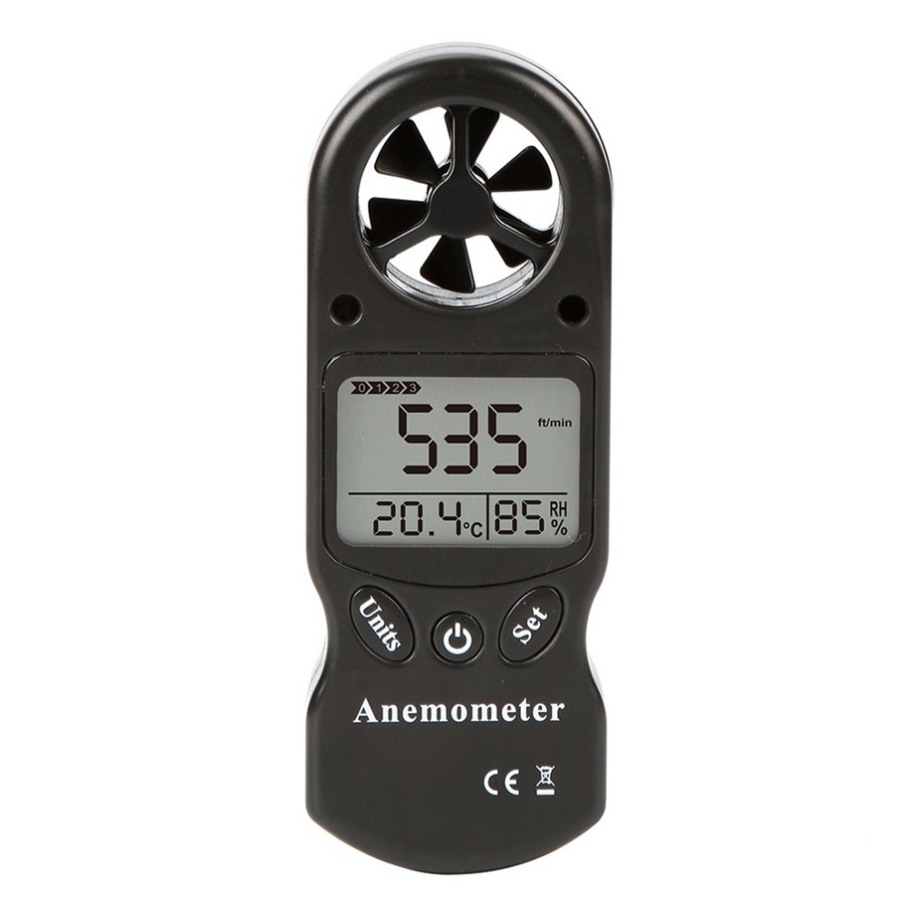 Mini Multipurpose Digital Anemometer with LCD Display Used as Wind Speed Meter 10
