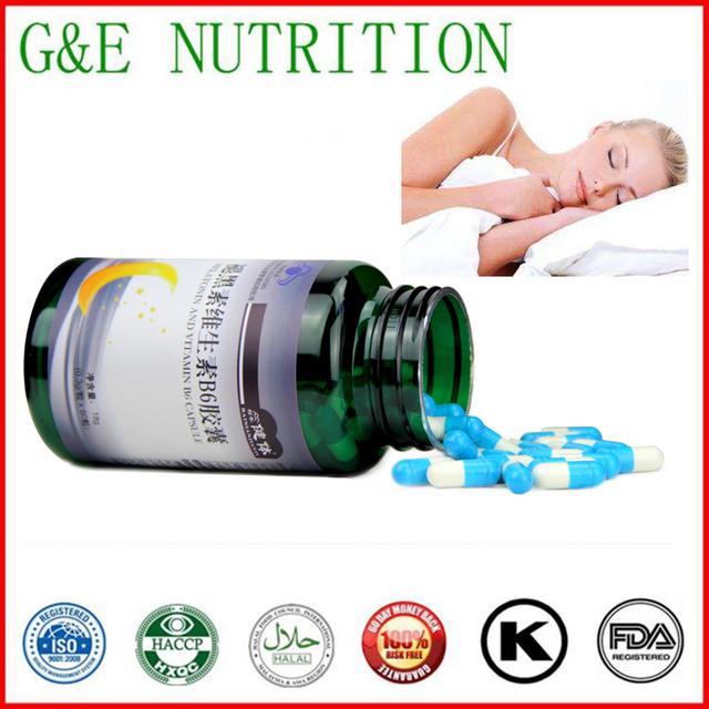 300 mg/cápsula * 60 pcs por garrafa Cápsula Melatonina & Vitamina B6 com frete grátis para ajudar som sono