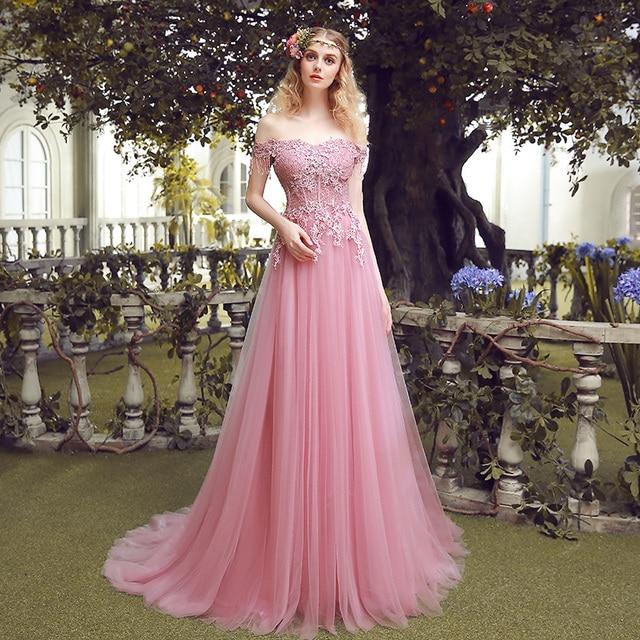 Nueva rosa con cuello barco piso señora Girl mujeres princesa dama ...