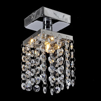 Mini Crystal Pendant Light Chandelier Lustre Crystal Chandeliers Lighting Fixture Small Clear Crystal Lustre Lamp Lustres