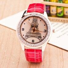Cindiry High End Tower Fashion Rhinestones Dress Watch Top Brand Lady Watch Quartz Wristwatch P0.25