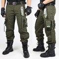 CALÇAS DA CARGA dos homens Macacão CALÇAS TÁTICAS MILITARES Calças de Combate Do Exército Verde E Preto Roupas Para Homens