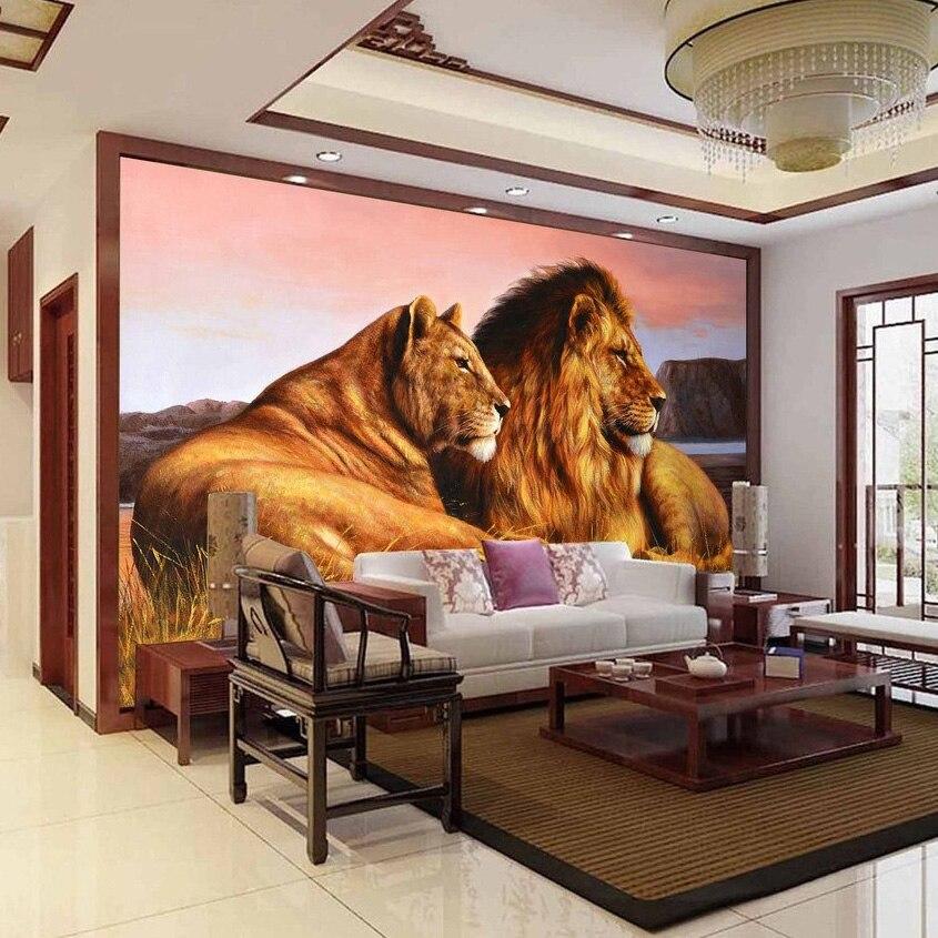 Wunderbar Custom Foto Tapete Afrikanische Prairie Lion Wohnzimmer Schlafzimmer  Hintergrund Wand Papier Dekor Malerei Tiere Wandbild De Parede 3D In Custom  Foto Tapete ...