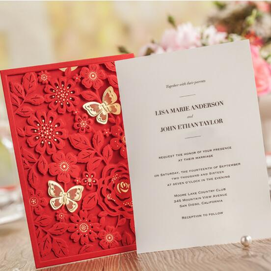 Online Get Cheap Red Wedding Invitations Aliexpress – Pink and Red Wedding Invitations