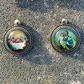 Диаметр 28 мм старинное серебро католический святой медали дева мария иисус сент-луис Thaddaeu St тереза бенедикта ожерелья медаль стеклянный купол
