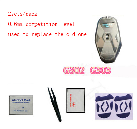 2sets/pack Original hotline Games mouse skate mouse feet For Logitech G302 G303 competition
