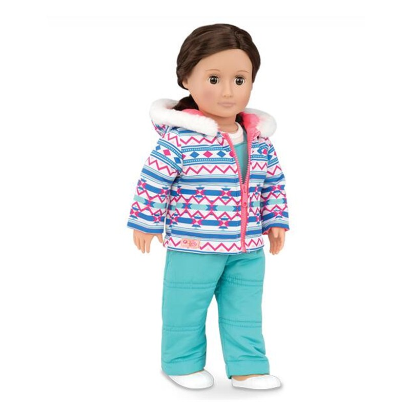 Fast Shipping 2017 Hotest Styles Snow Bright Our Generation Baby Born Doll Clothes American Girl Doll Clothes AG941 цены онлайн