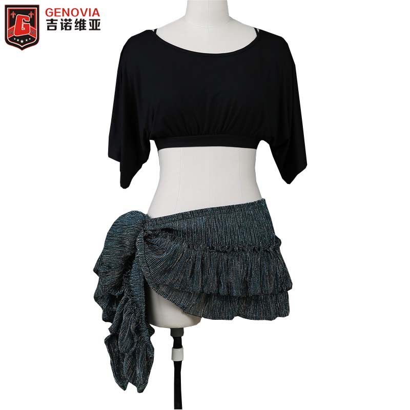 Women Belly Dance Costume Set Modal Clothes Batwing Sleeve Top and Hip Scarf Club Stage Wear
