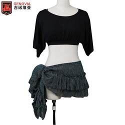 Женский костюм для танца живота, Модальная одежда, топ с рукавами «летучая мышь» и шарф на бедрах, Клубная сценическая одежда для танца
