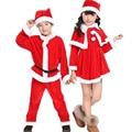High Quality Christmas Costumes Girl Boy Santa Suit Kids Christmas Clothing Sets