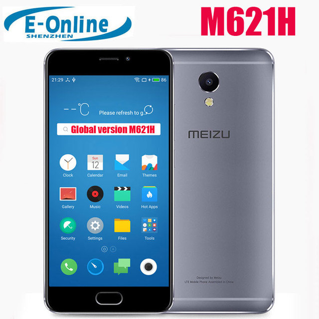 """Оригинал Meizu M5 Примечание Глобальный Версия M621H helio P10 Octa Core мобильный телефон 5.5 """"FHD отпечатков пальцев ID 4000 мАч аккумулятор"""