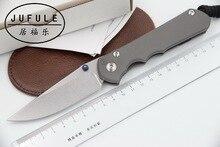 JUFULE OEM Large Sebenza 25 CPM S35vn TC4 titanium handle folding Tactical pocket camping hunting outdoor EDC tool kitchen knife
