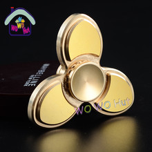 New arrival Cyclone charm hand spinner toys 2017 Yellow copper fidget spinner finger spinner funny toys for adults kids gift