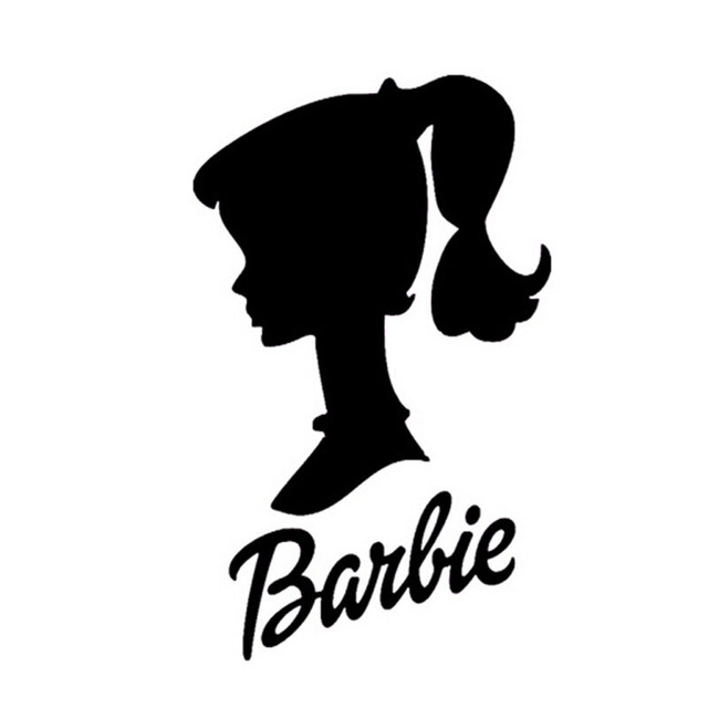 15 9 5cm Barbie Doll Head Personalized Car Stickers And