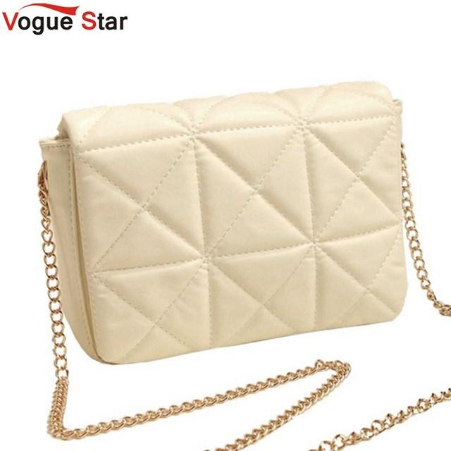 Vogue star 2017 mujeres del resorte debe cadena a cuadros bolsa de embrague bolsa pequeña de la vendimia el mini cruzada cuerpo bolsa bolso de cuero de las mujeres yk40-143