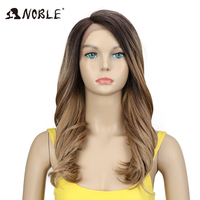 Noble Synthetic Wig For Black Women Trendy Lace Front Wig Loose Wave Synthetic Hair 20Inch Ombre Hair Synthetic Lace Front Wig