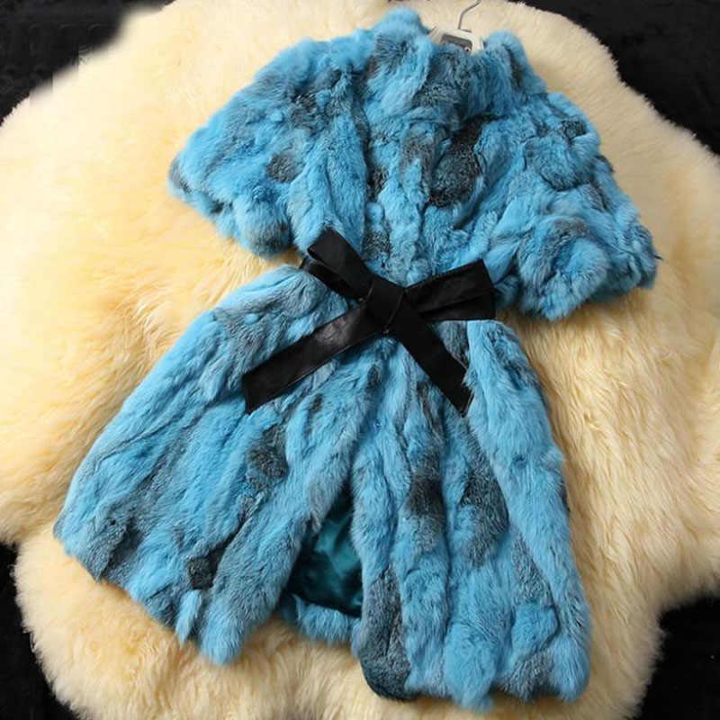 HSPL gerçek kürk yelek kadınlar yeni varış ucuz tavşan kürk ceket 2019 bahar hakiki doğal tavşan yelek kış casaco feminino
