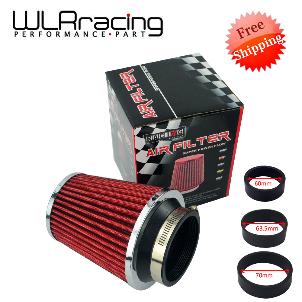 4 in 1 Adjustable Caliber 60mm - 76mm Car Universal Kits Auto Air Intake High Flow Mushroom Air Filter Reuseable Fuel Economy air filter auto vehicle car cold air intake filter cleaner funnel adapter 76mm air filter car cold kits high quality accessory
